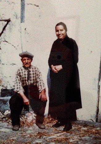 Due vecchi in una foto dei primi Novecento